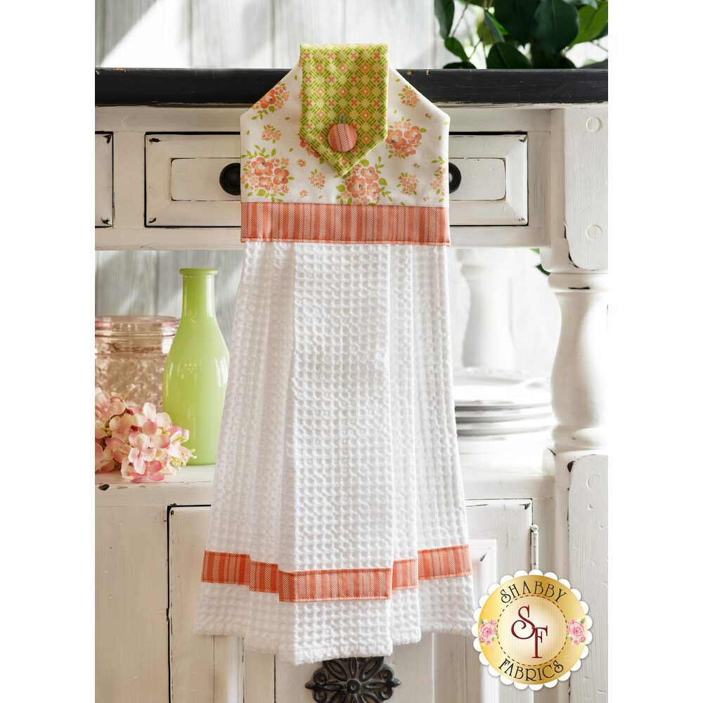 Hanging Towel Kit - Apricot & Ash - White