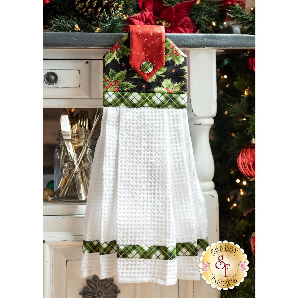 Hanging Towel Kit - Glad Tidings Metallic - Green