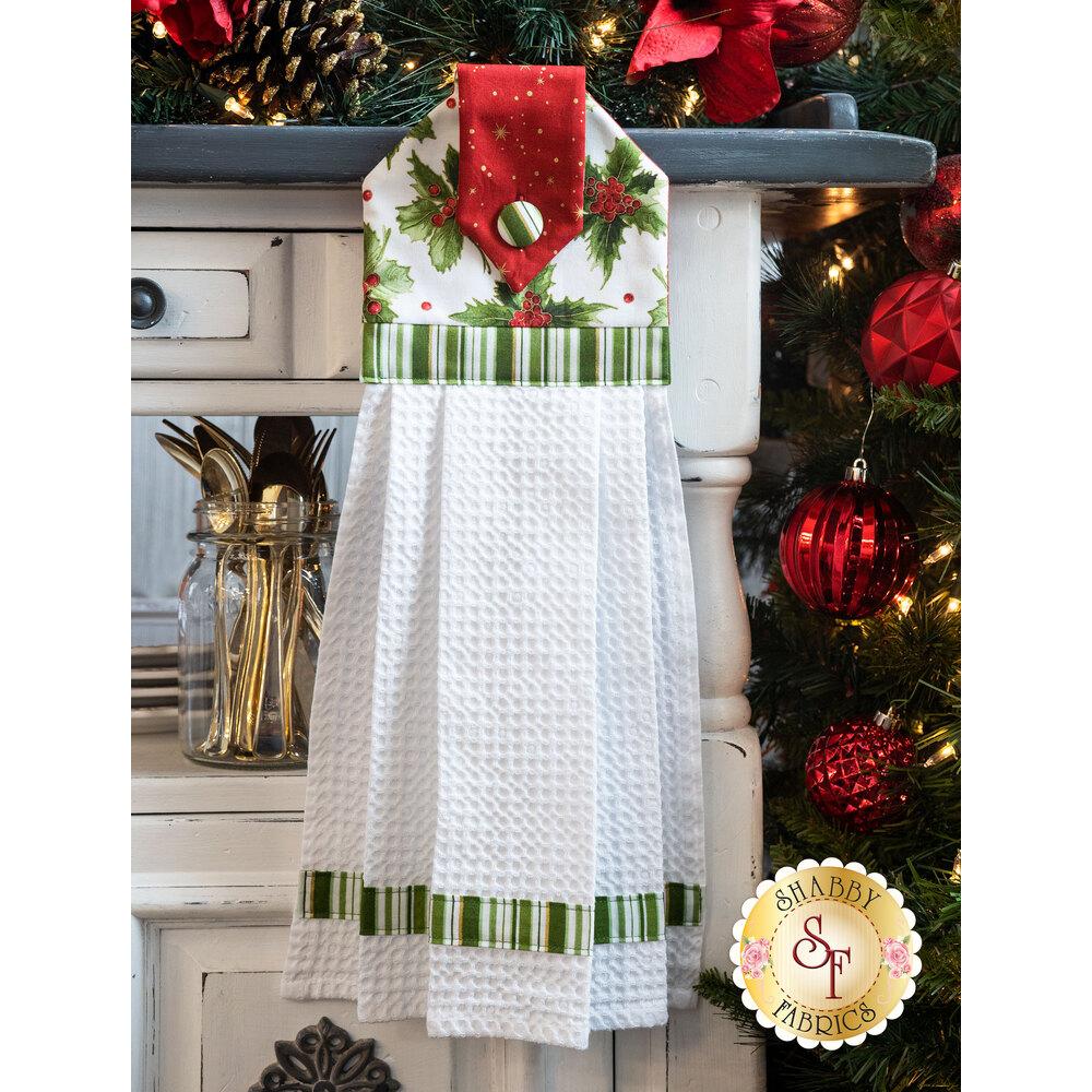 Hanging Towel Kit - Glad Tidings Metallic - Light Green