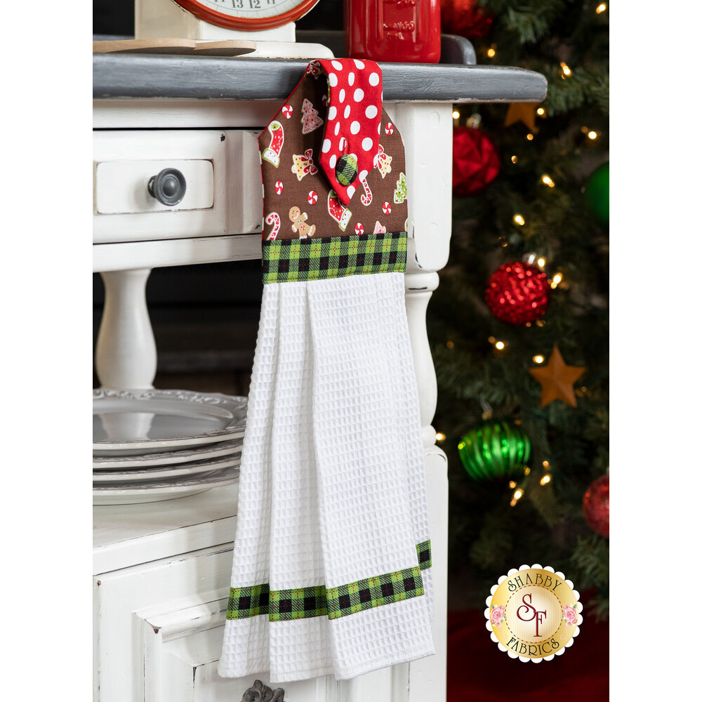 Hanging Towel Kit - We Whisk You A Merry Christmas - Brown