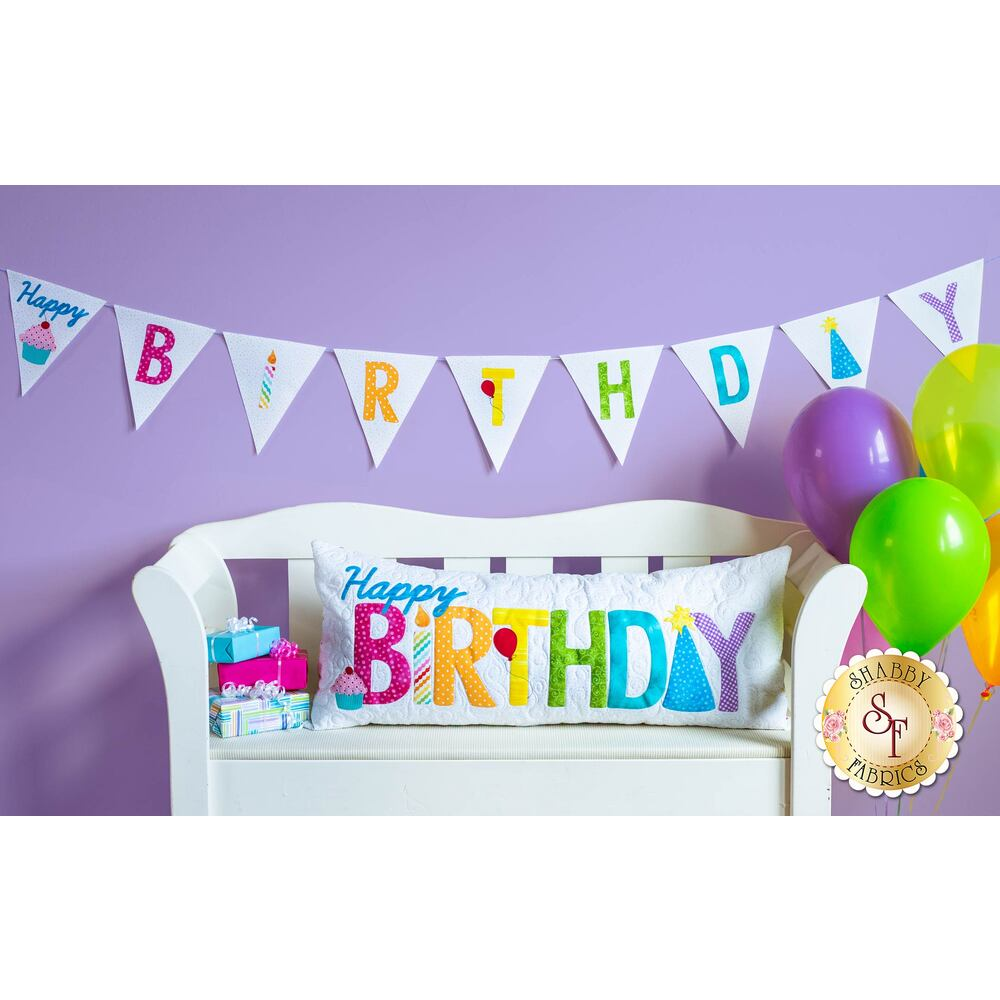 Happy Birthday Pennant Banner Kit - Laser-Cut