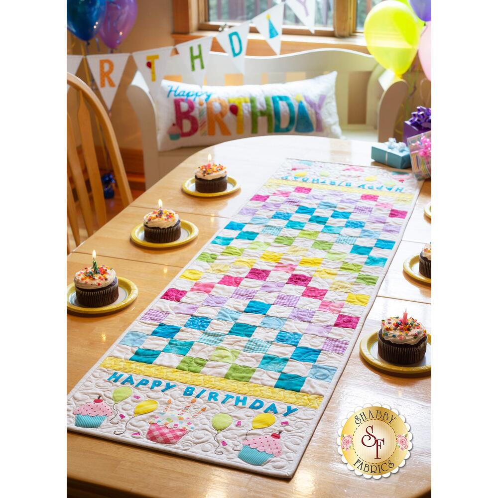 Patchwork Birthday Table Runner Kit - Laser Cut