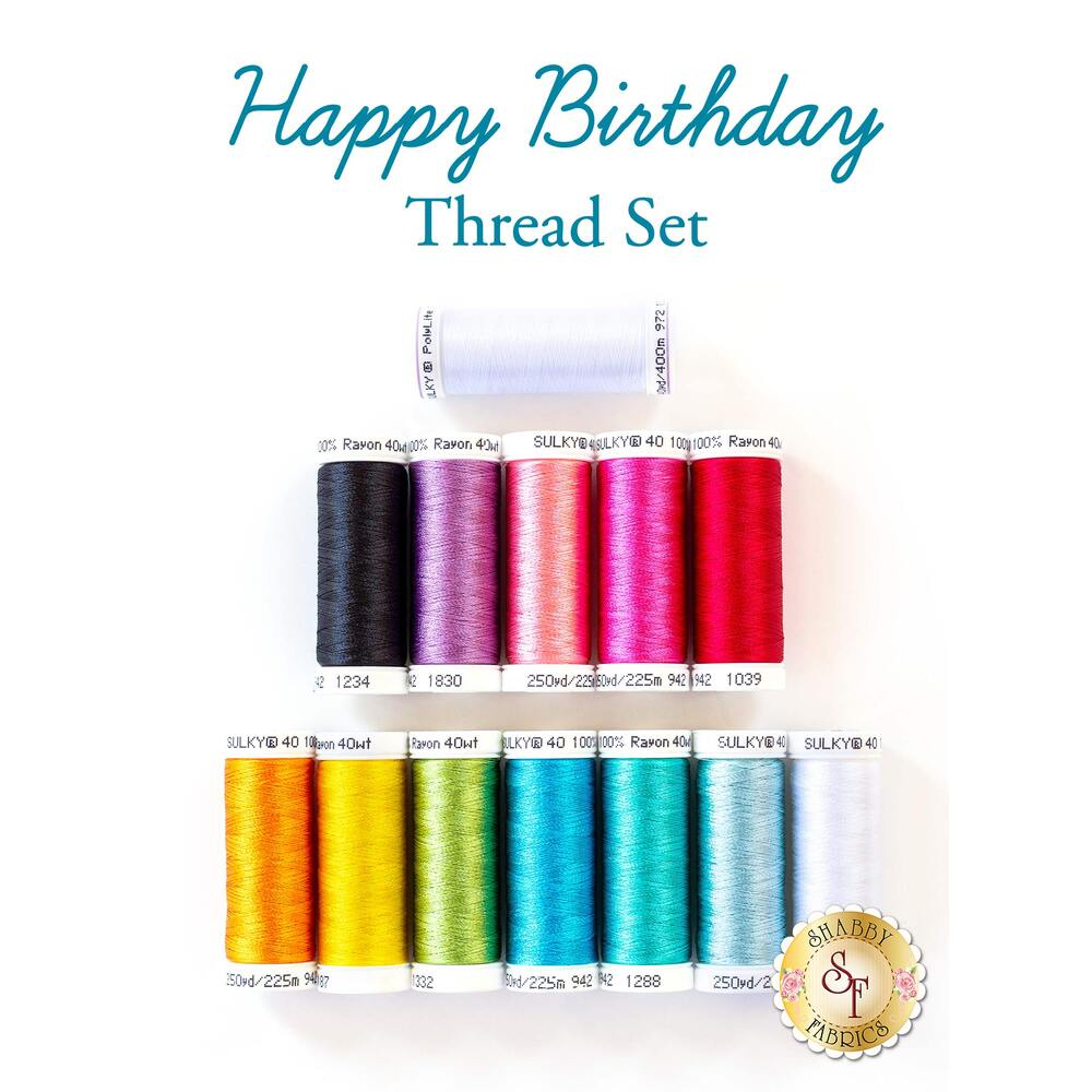 Happy Birthday - 13pc Thread Set