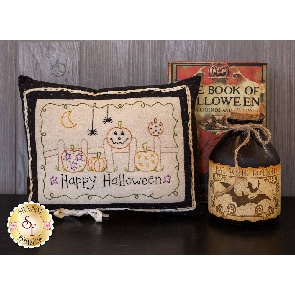Little Halloween Pillow Kit - Stitched Pumpkins