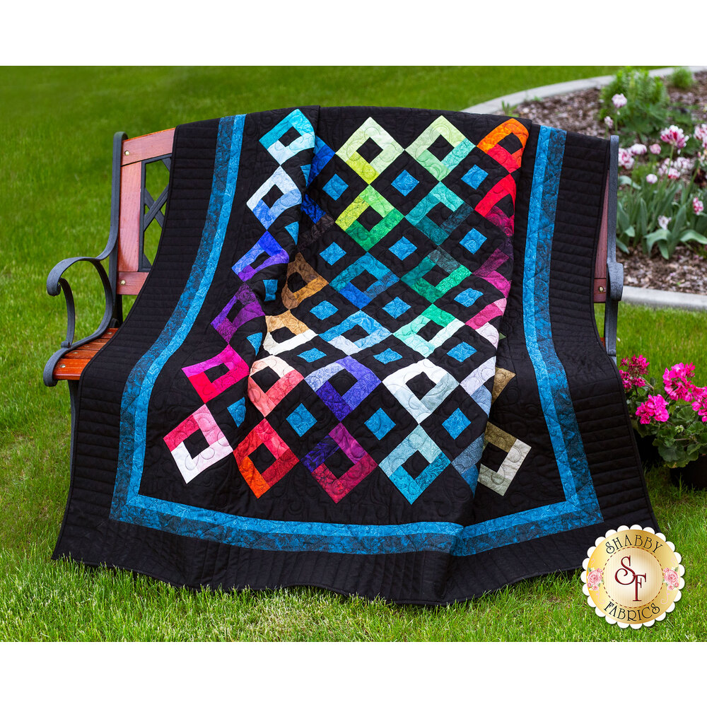 Harlequin Charm Quilt Kit - Plus Bonus Pillow!