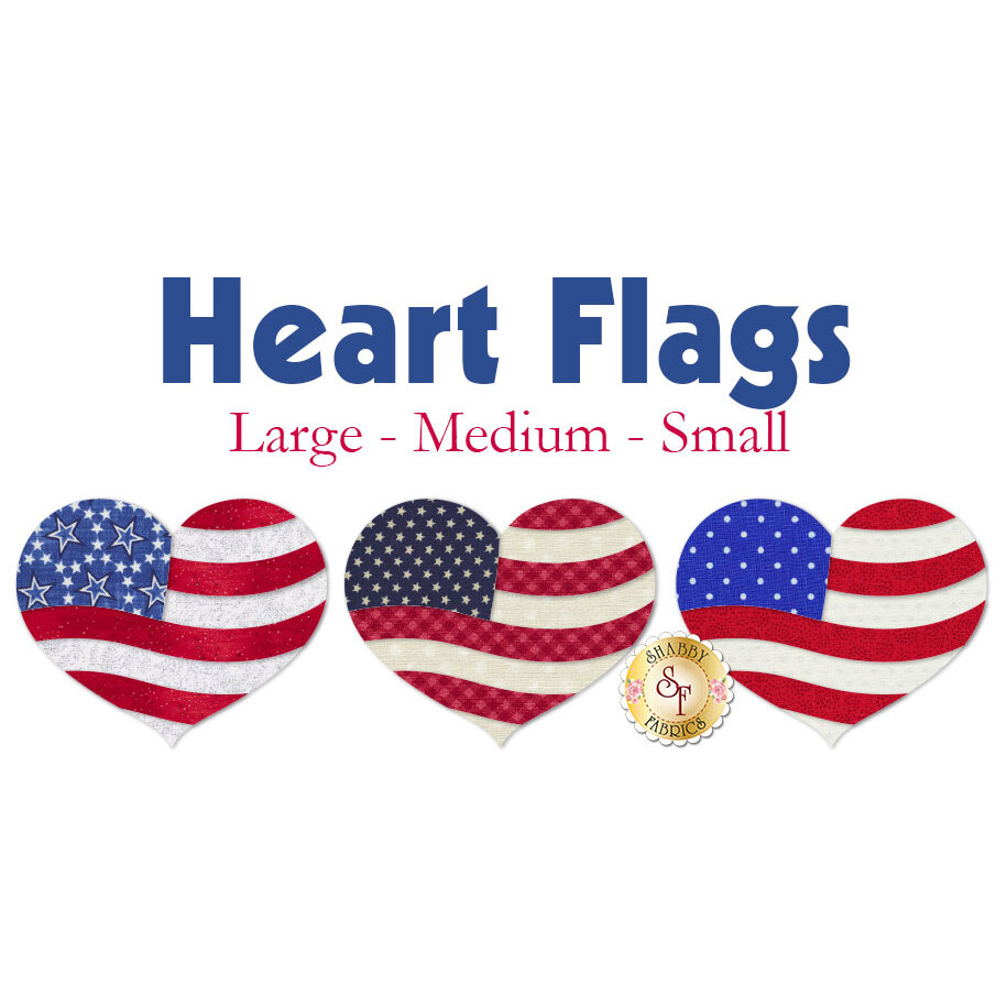 Laser-Cut Heart Flags - 3 Sizes Available!