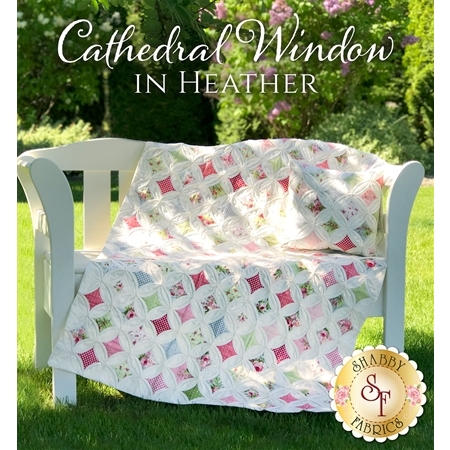 Cathedral Window in Heather Quilt & Pillow Pattern