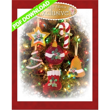 Heirloom Christmas Ornaments Pattern - PDF Download