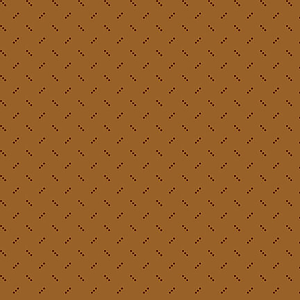 Alternating dark brown three dot clusters on a brown background