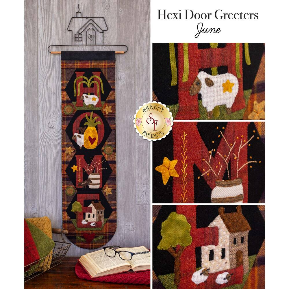 Hexi Door Greeters - June - Wool Kit