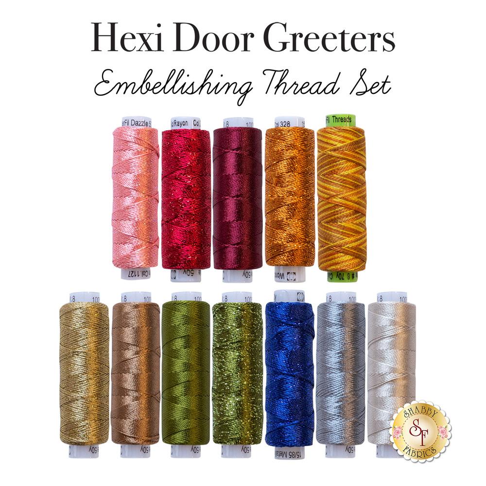 Hexi Door Greeters Club Embellishing Thread Set