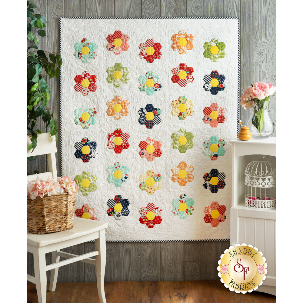 Hexi Honeycomb Quilt Kit - Shine On