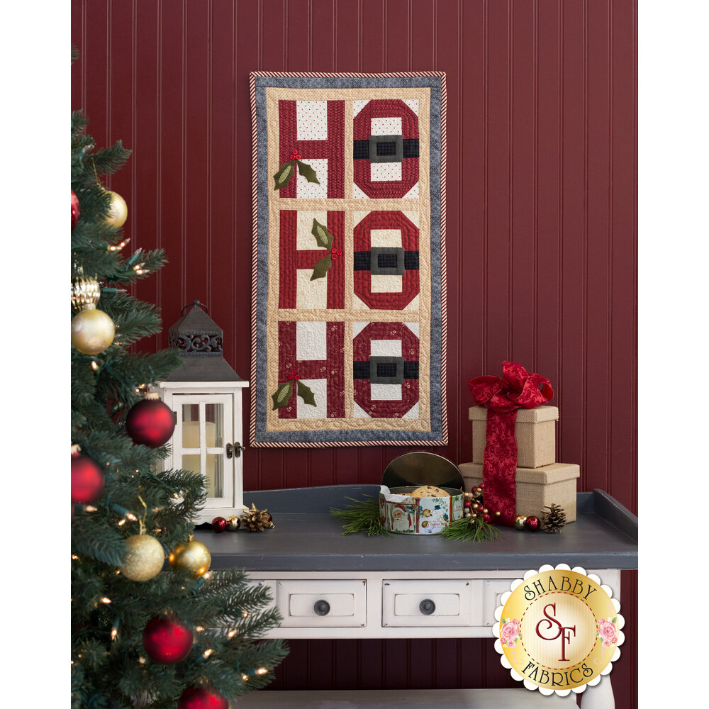 Ho Ho Ho Wall Hanging Quilt Kit - INCLUDES WOOL!