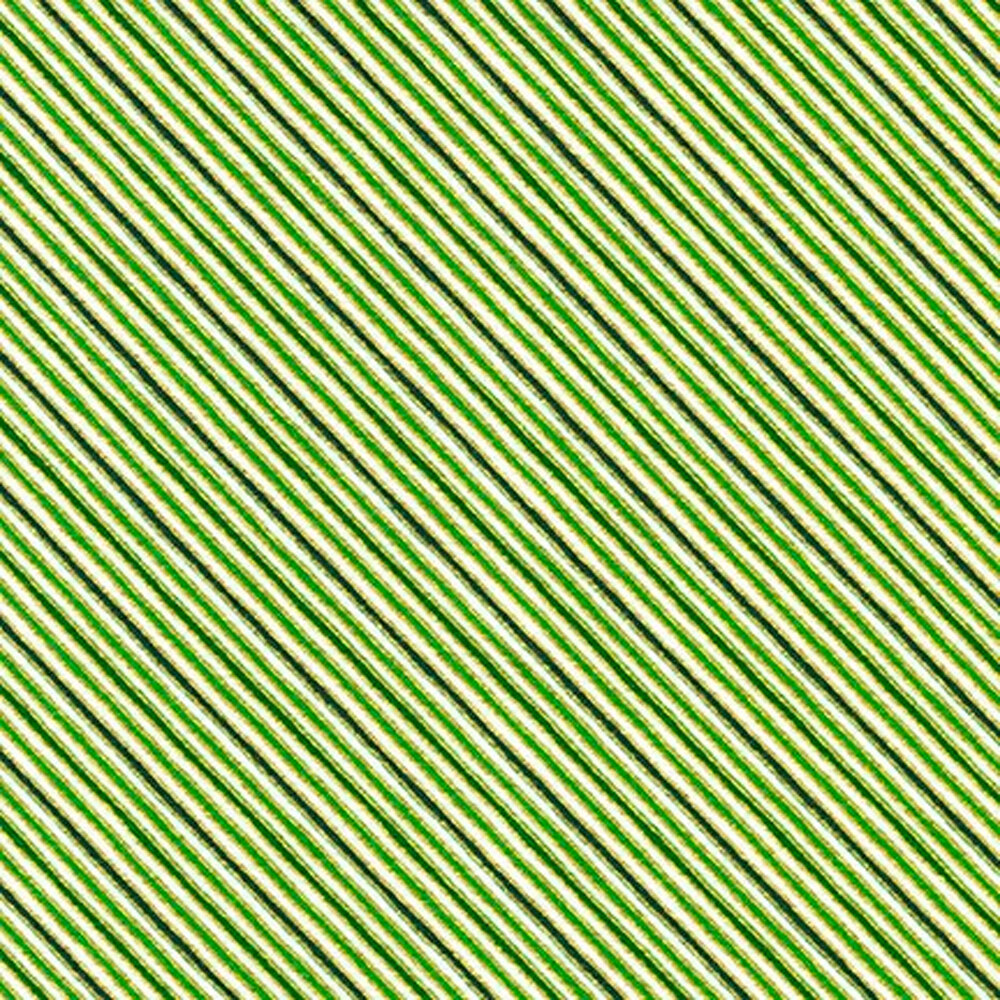 Green diagonal stripes on an ivory background