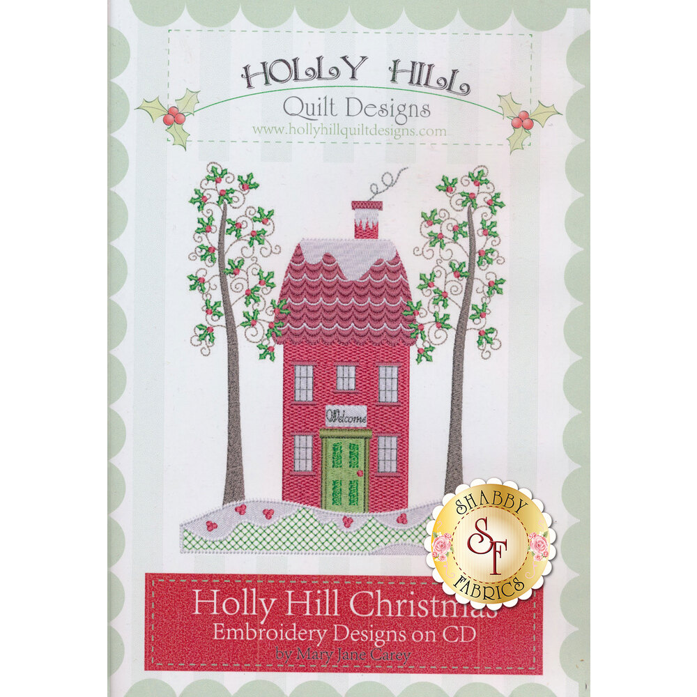 Holly Hill Christmas Machine Embroidery CD | Shabby Fabrics