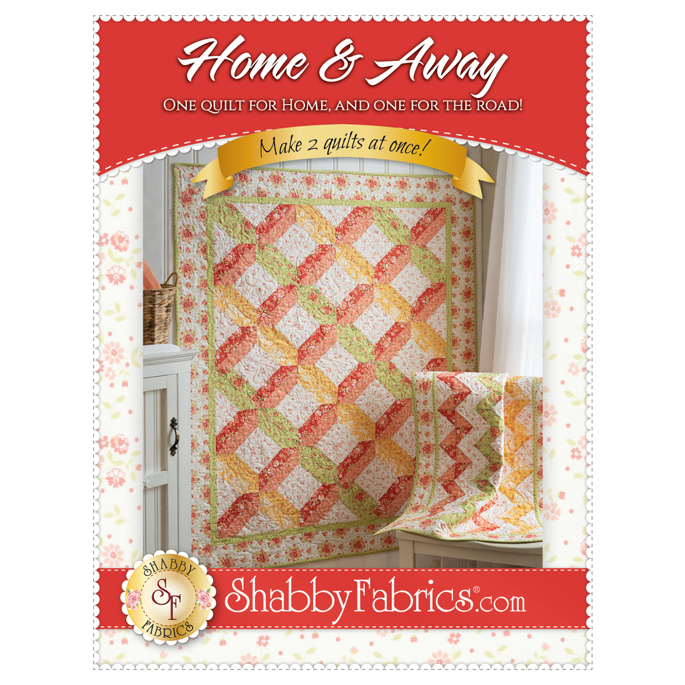 The front of the Home & Away Pattern showing the beautiful finished quilts | Shabby Fabrics
