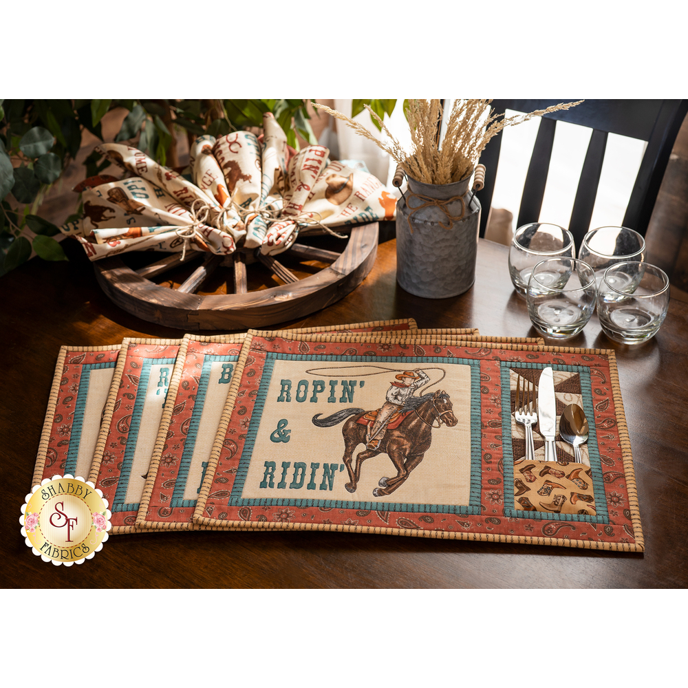Placemat Kit - Home On The Range - Makes 4 - RESERVE