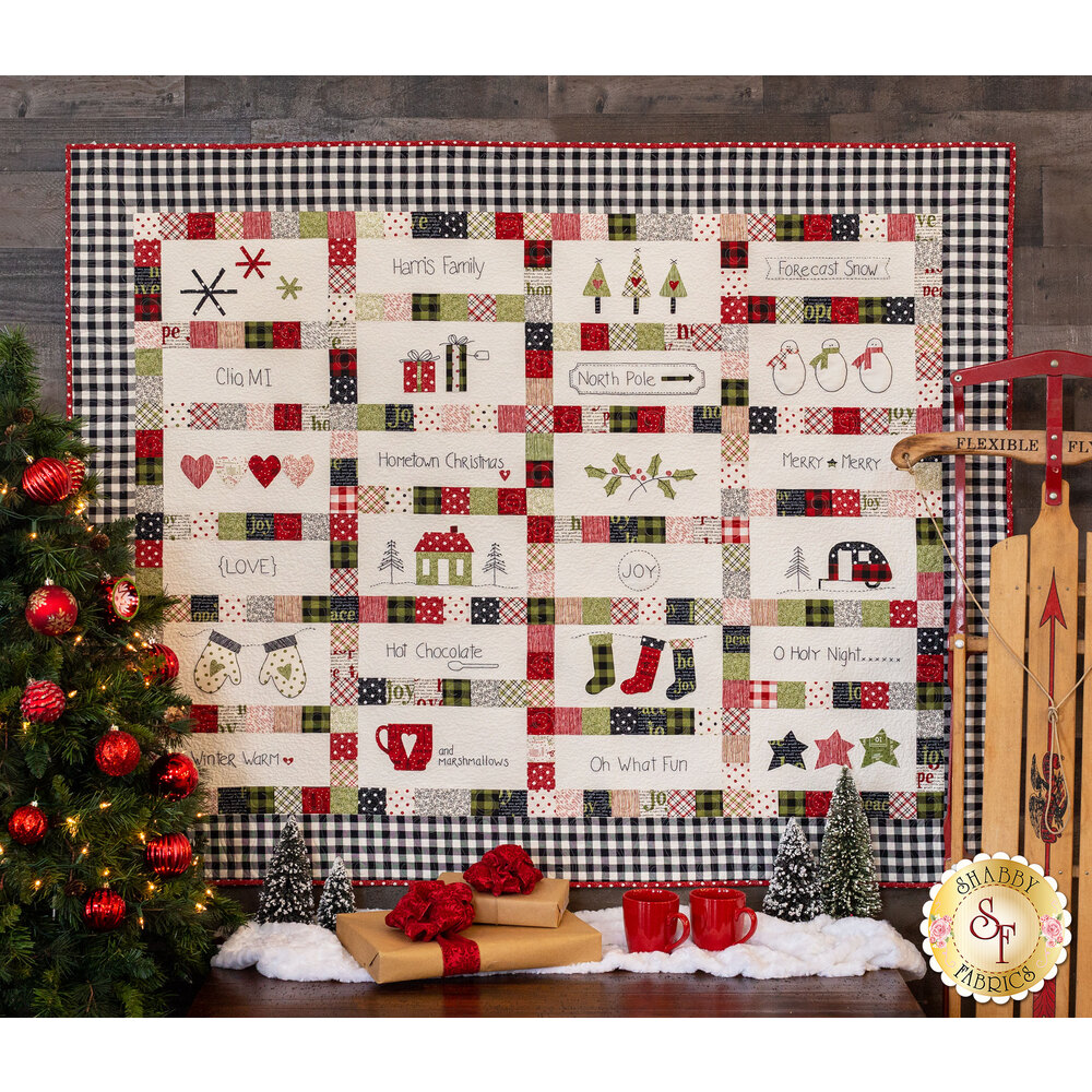 Hometown Christmas Quilt Pattern at Shabby Fabrics