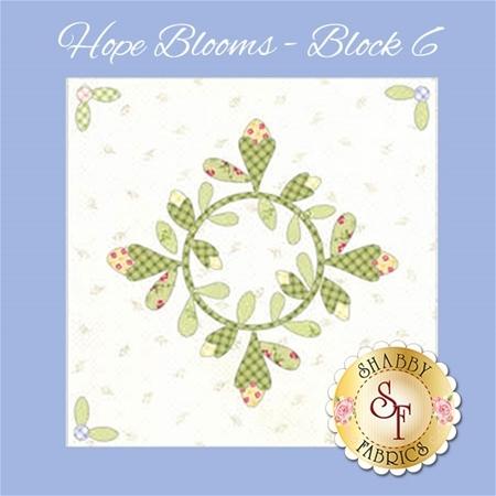 Hope Blooms Quilt - Laser-Cut Block 6 Kit
