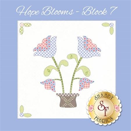 Hope Blooms Quilt - Laser-Cut Block 7 Kit