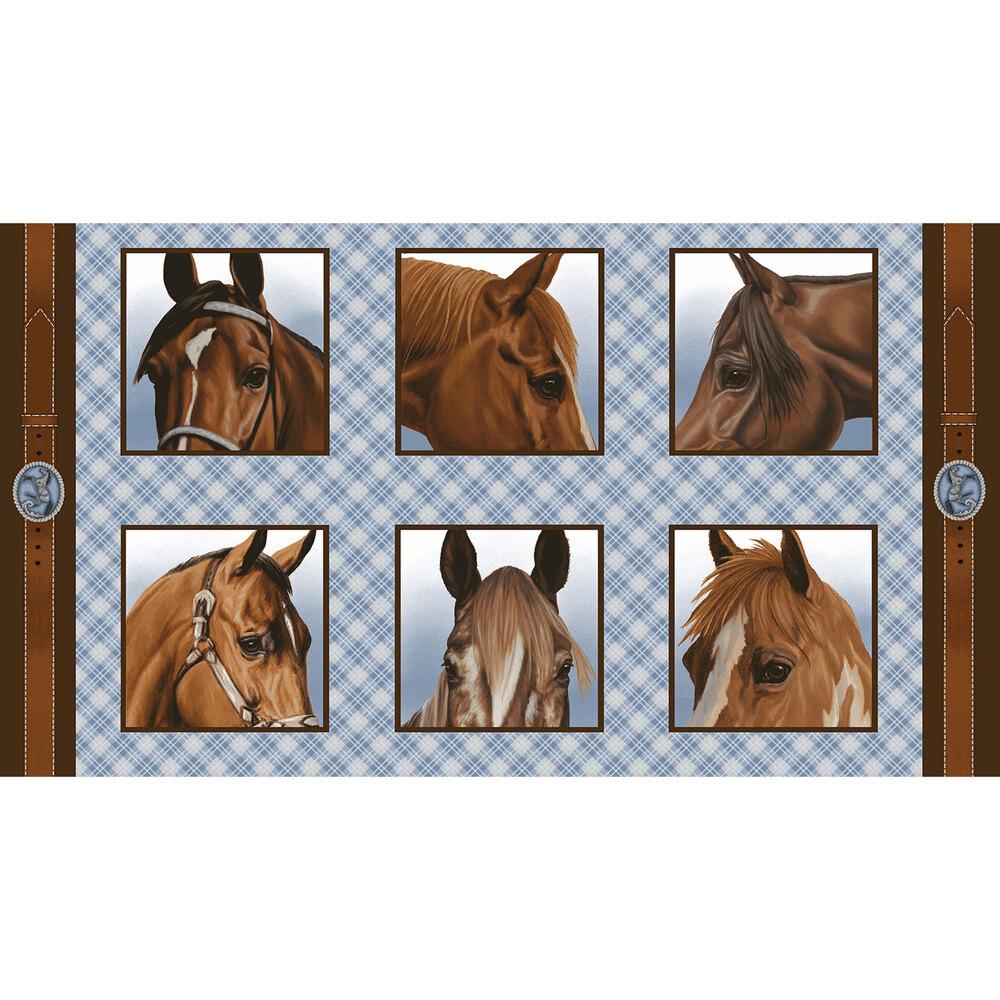 6 blocks of different horses' faces | Shabby Fabrics
