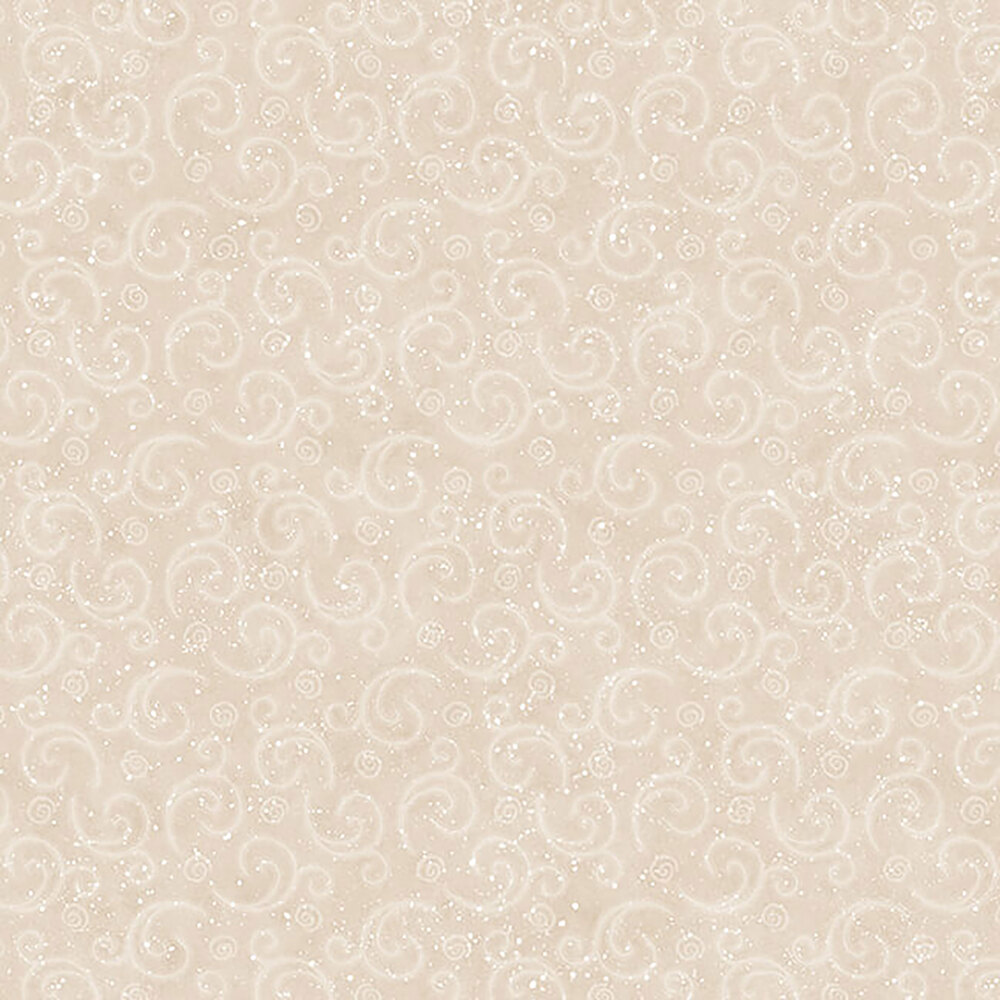 White swirled wind gusts and snow on a beige background