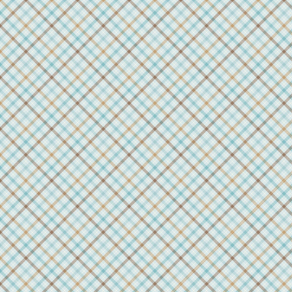 Blue, gray, and brown flannel plaid