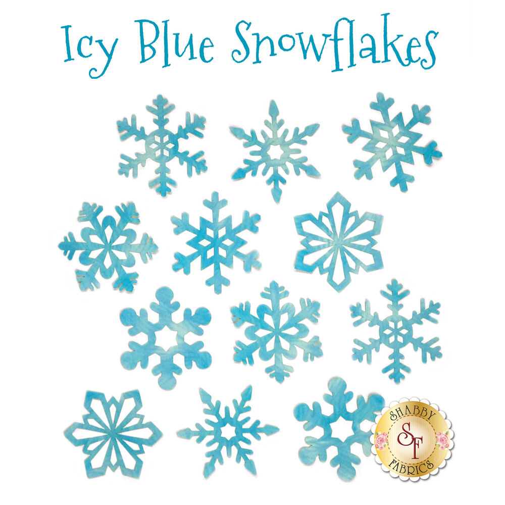 Laser-Cut Icy Blue Snowflake Pack - 12 Pieces