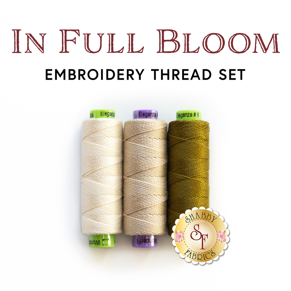 In Full Bloom - Wool Mat Kit - 3 pc Embroidery Thread Set