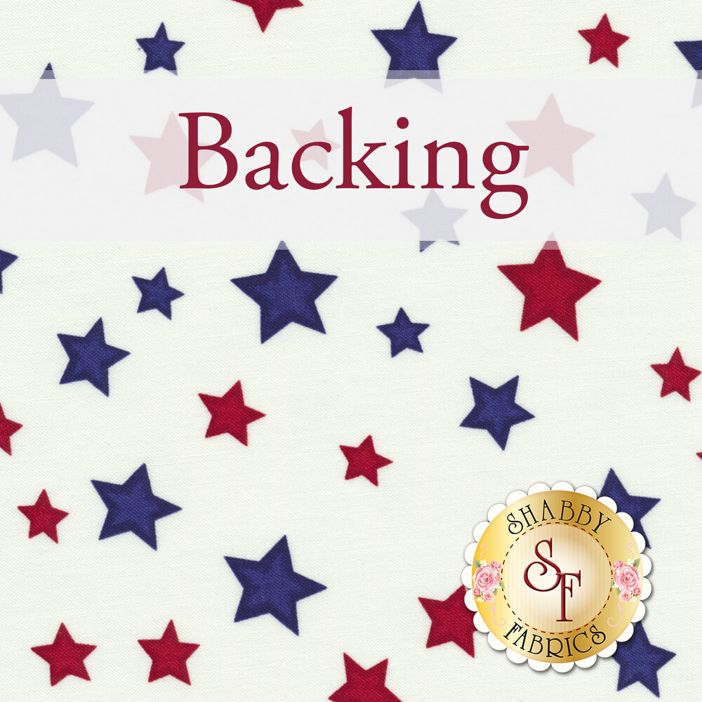 Interlocked Yankee Doodle Quilt Backing - 3⅓ yds