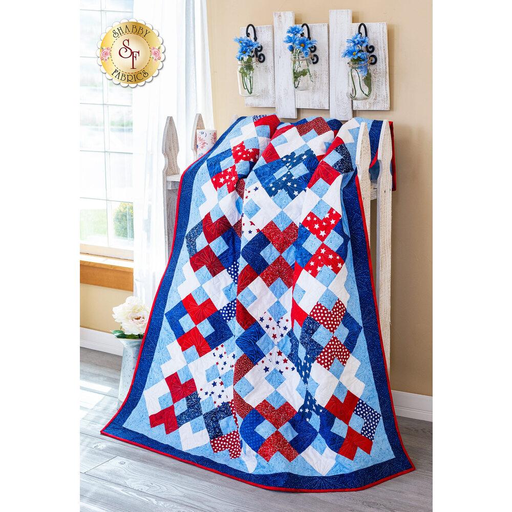 Interlocked Yankee Doodle Quilt Kit