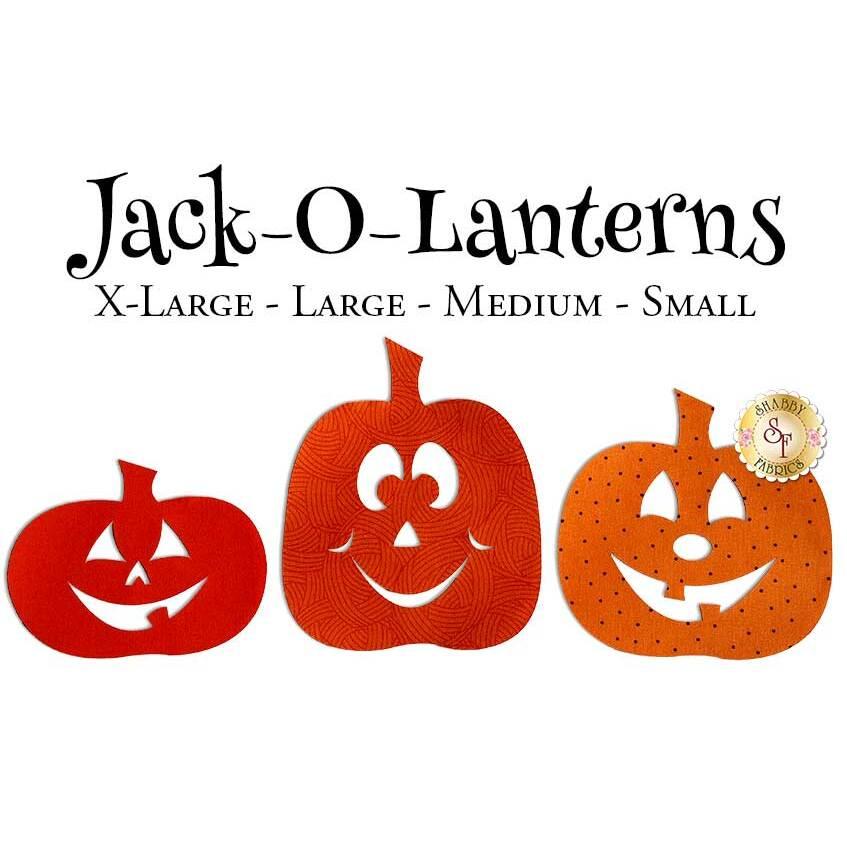 Laser-Cut Jack-O-Lanterns - 4 Sizes Available!