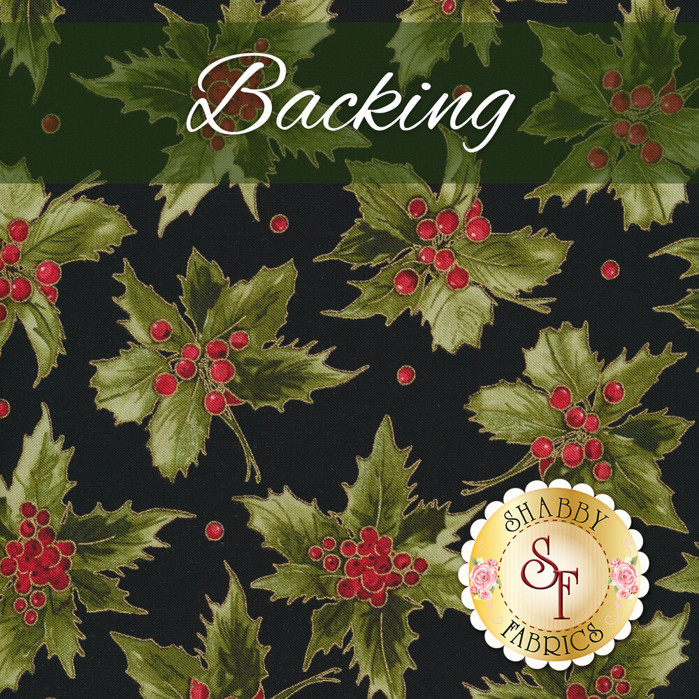 Ridiculously Easy Jelly Roll Quilt Kit - Glad Tidings - Black - Backing - 3-3/4 yds