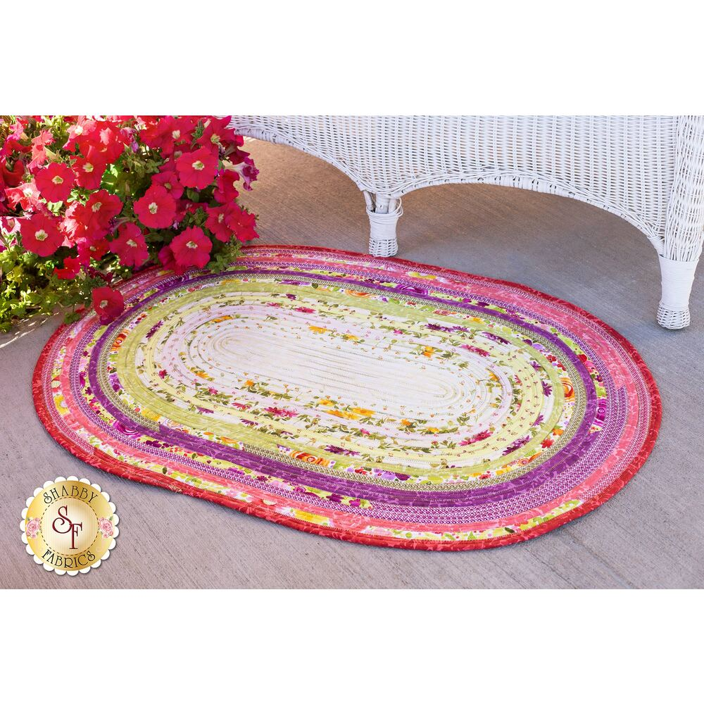 Jelly Roll Rug Kit - Poinsettia & Pine available at Shabby Fabrics