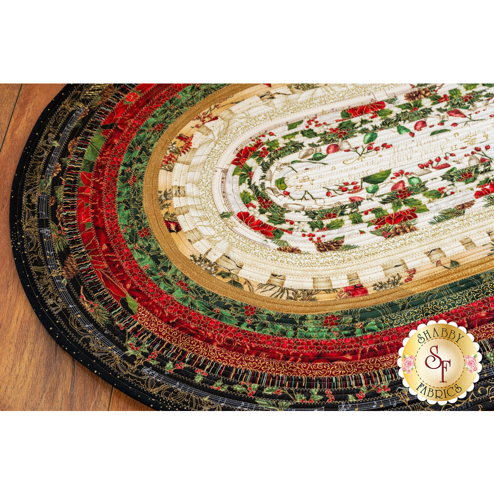 Jelly Roll Rug Kit Hoffman Christmas Shabby Fabrics