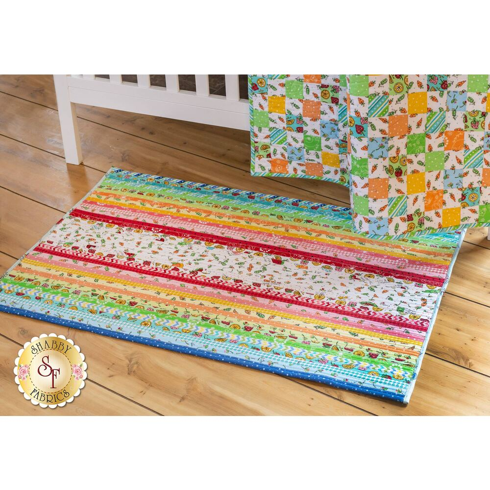 Jelly Roll Rug 2 Kit - Lil' Sprout Flannel available at Shabby Fabrics