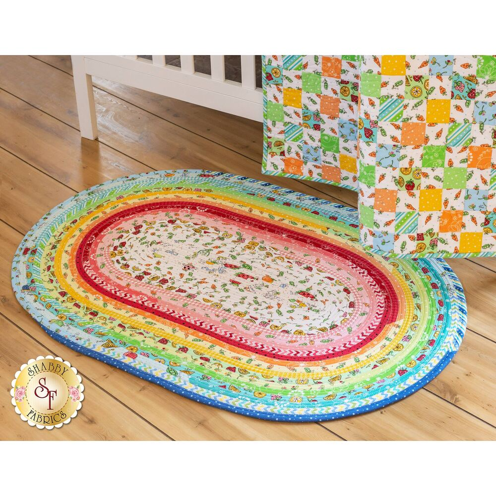 Jelly Roll Rug Kit - Lil' Sprout Flannel available at Shabby Fabrics