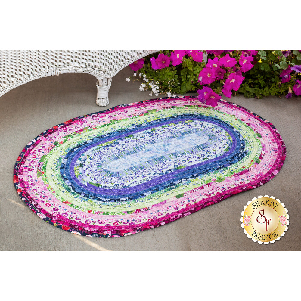 Jelly Roll Rug Kit - Petal Park