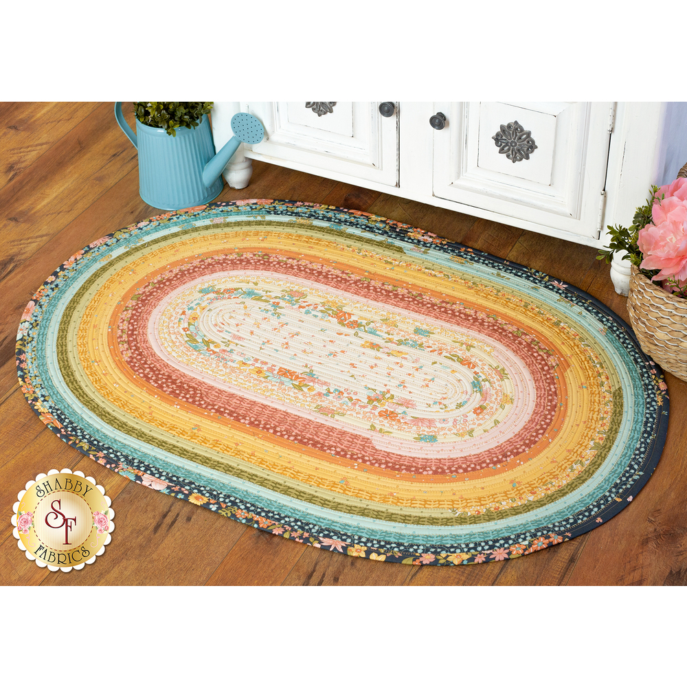 The beautiful Sunlit Blooms Jelly Roll Rug | Shabby Fabrics