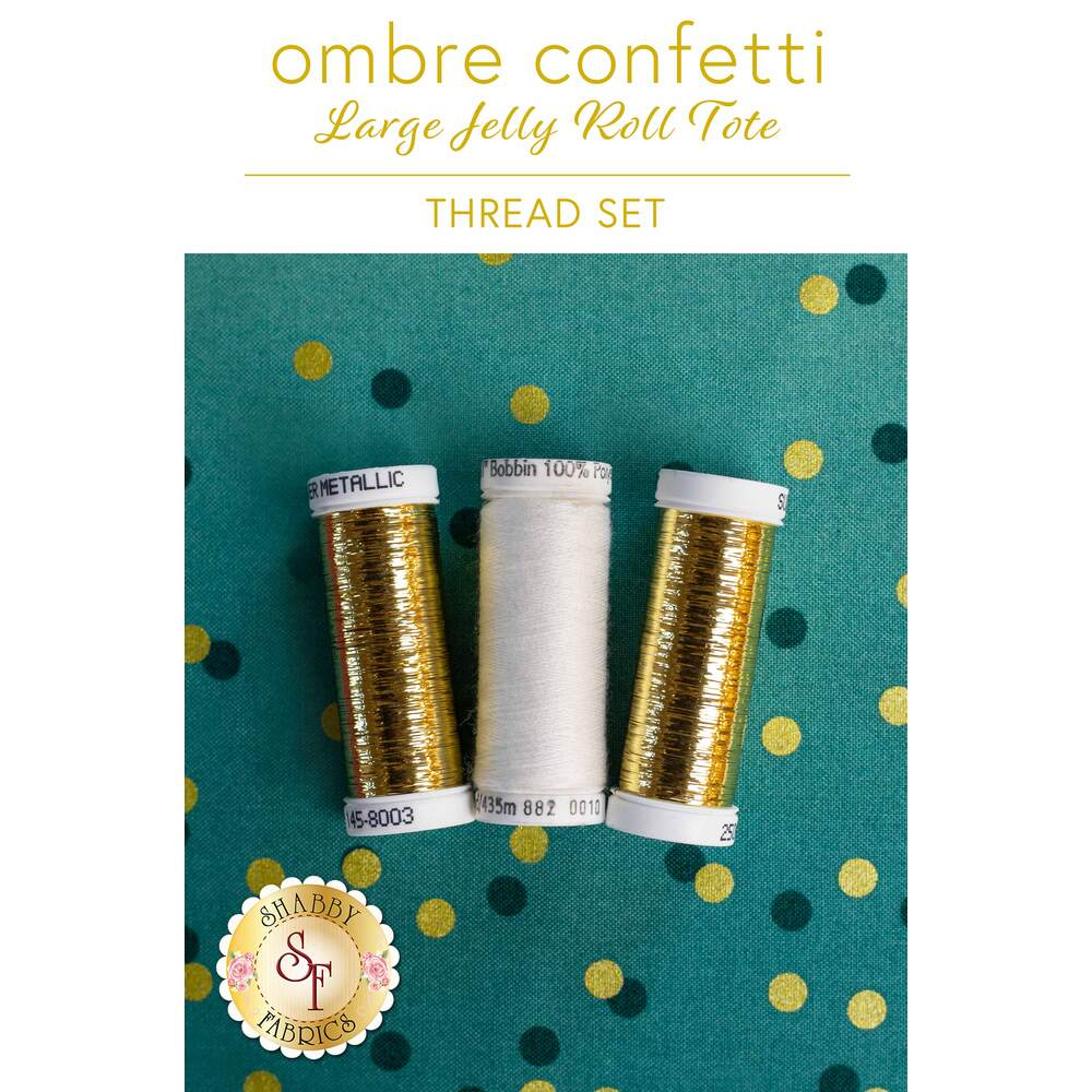 Ombre Confetti Large Jelly Roll Tote - 3 pc Thread Set T Shabby Fabrics