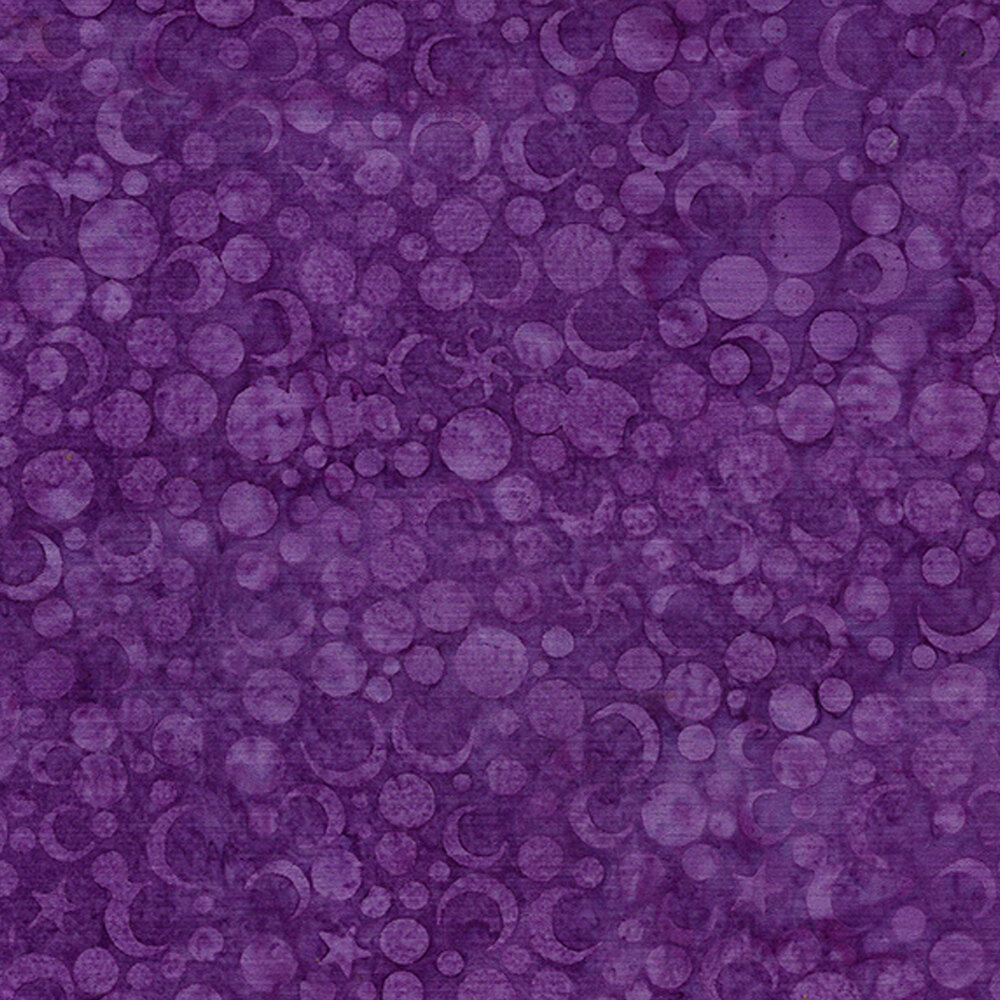 Tonal purple moons and stars