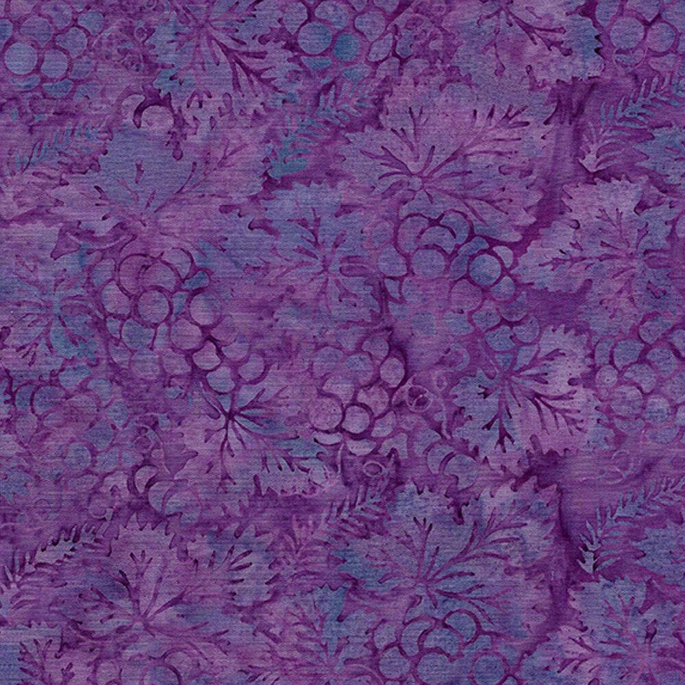 Tonal mottled blue and purple grapes