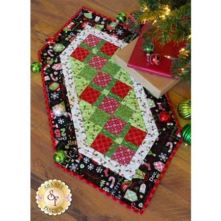 Jingle All The Way Black Table Runner Kit | Shabby Fabrics