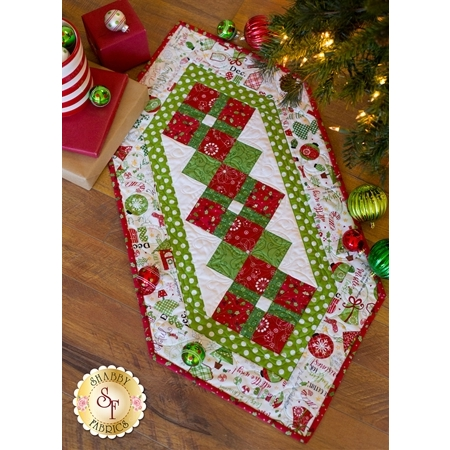 Jingle All The Way Table Runner - White - SAMPLE RUNNER