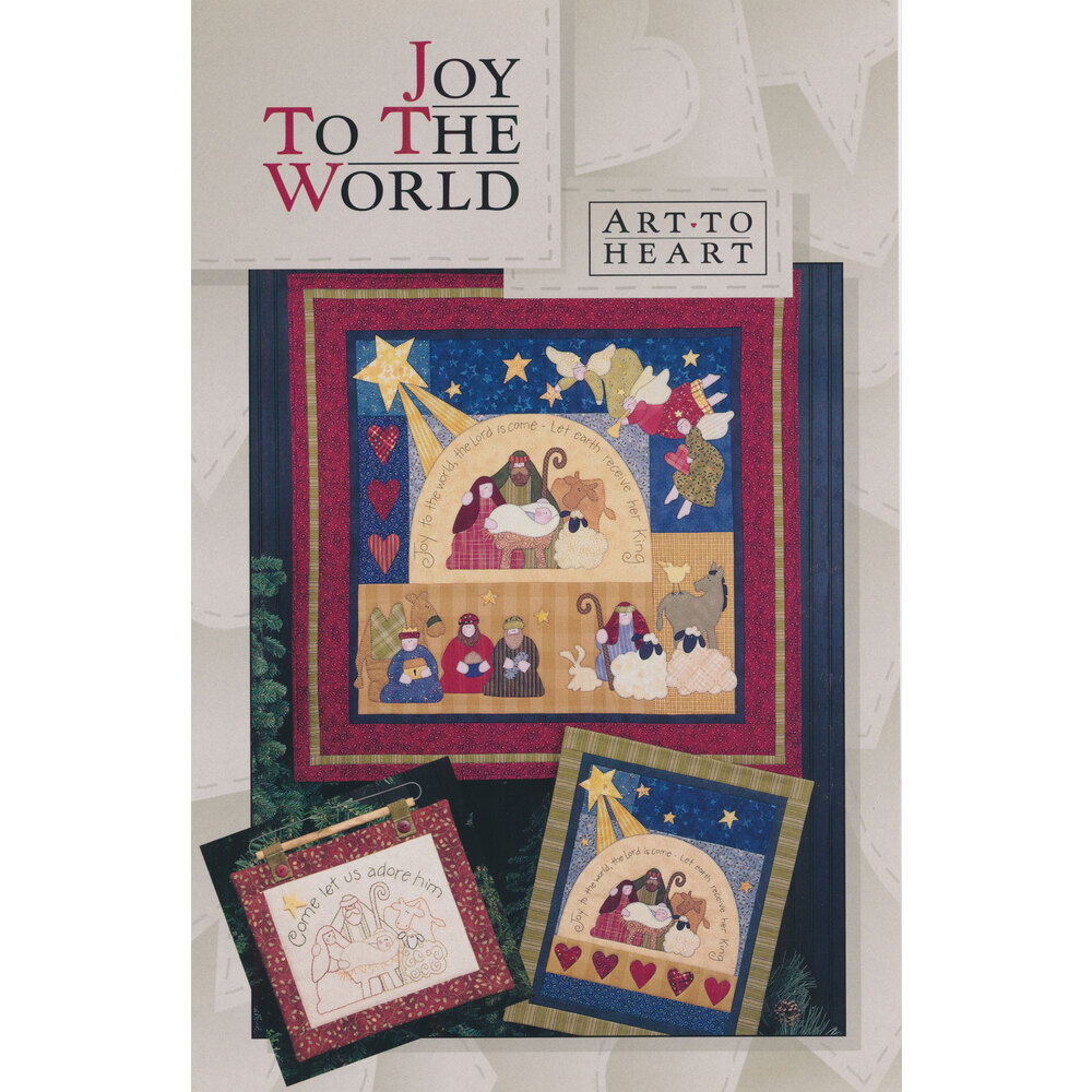 The front of the Joy To The World pattern by Art to Heart