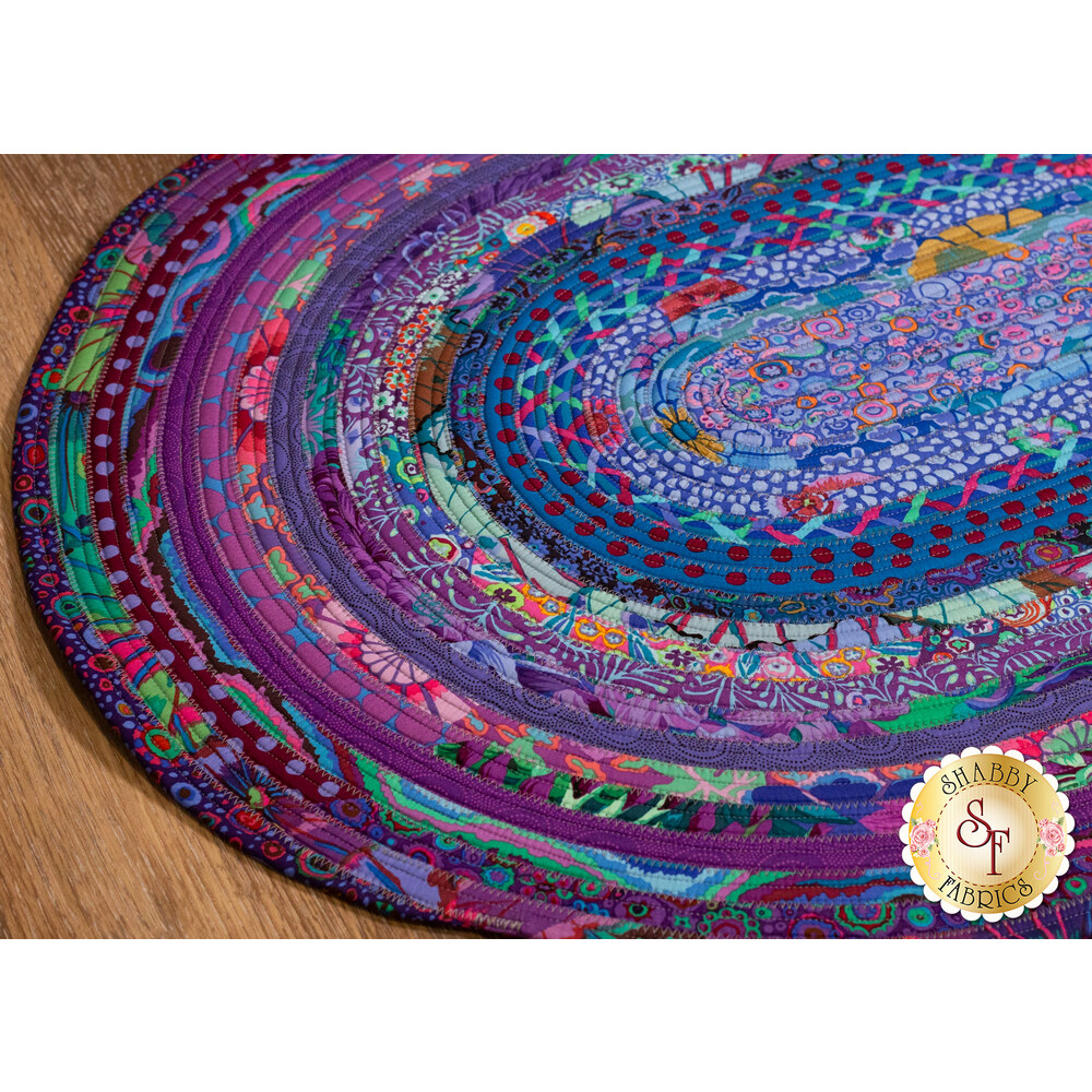Jelly Roll Rug Kit - Peacock available at Shabby Fabrics