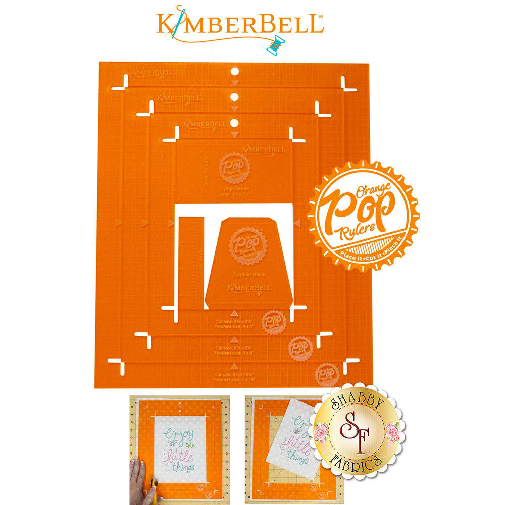 All of the rulers included in the Orange Pop Ruler - Rectangle Set | Shabby Fabrics