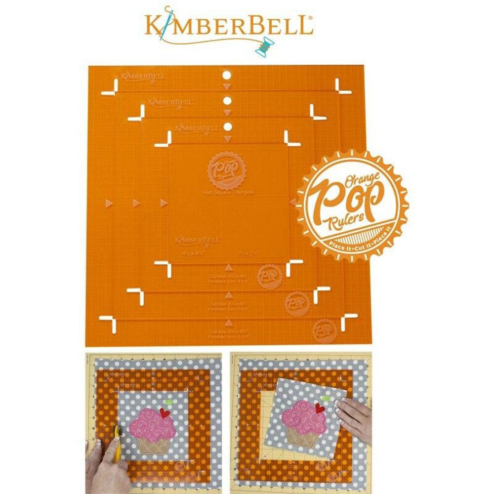 All 4 rulers in the Orange Pop Ruler - Square Set   Shabby Fabrics