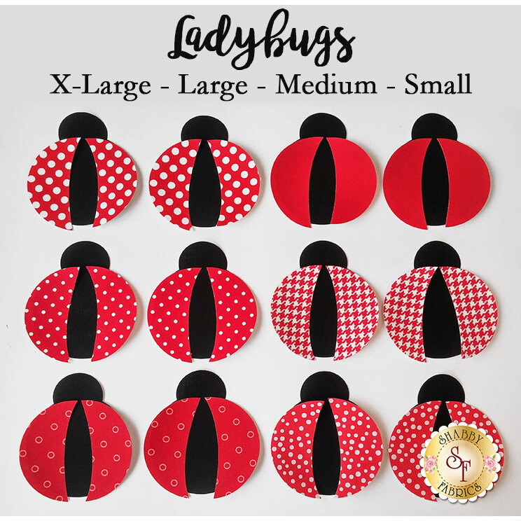 Laser-Cut Ladybugs - 4 Sizes Available!