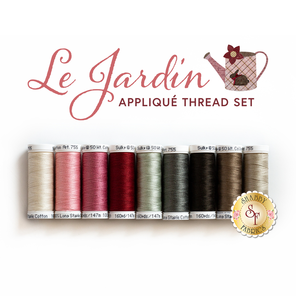 The coordinating 9pc thread set for the Le Jardin BOM | Shabby Fabrics